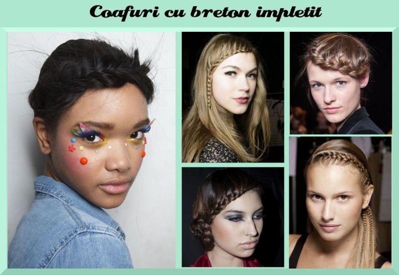 Coafuri impletite: breton împletit