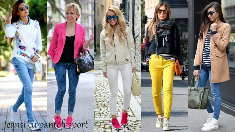 Jeansi cu pantofi sport