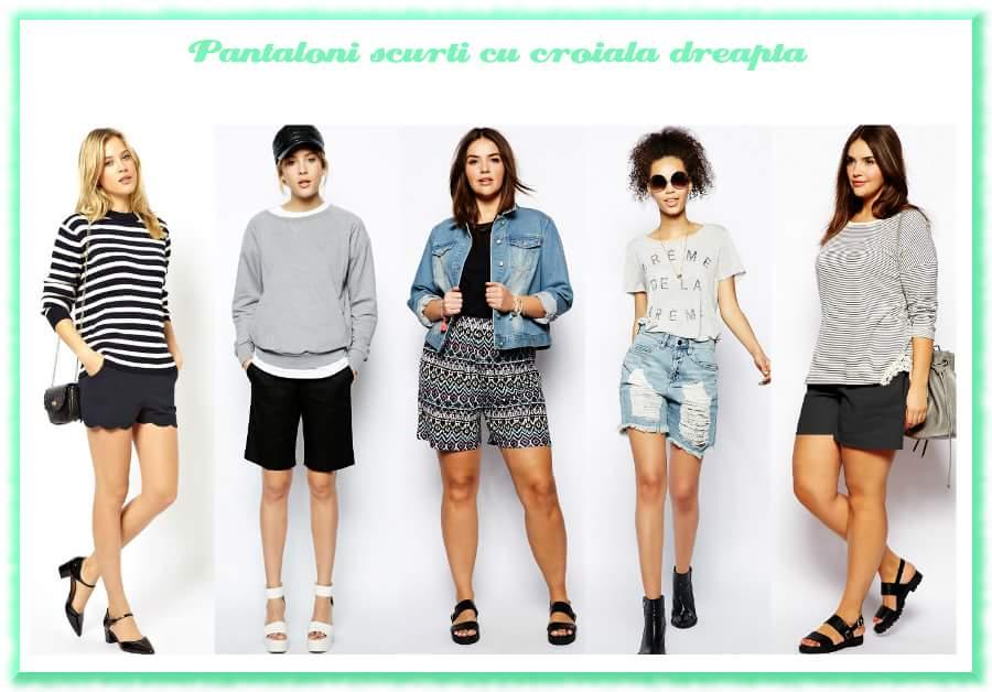 Modele de pantaloni scurti dama | Pantaloni scurti cu o croiala dreapta