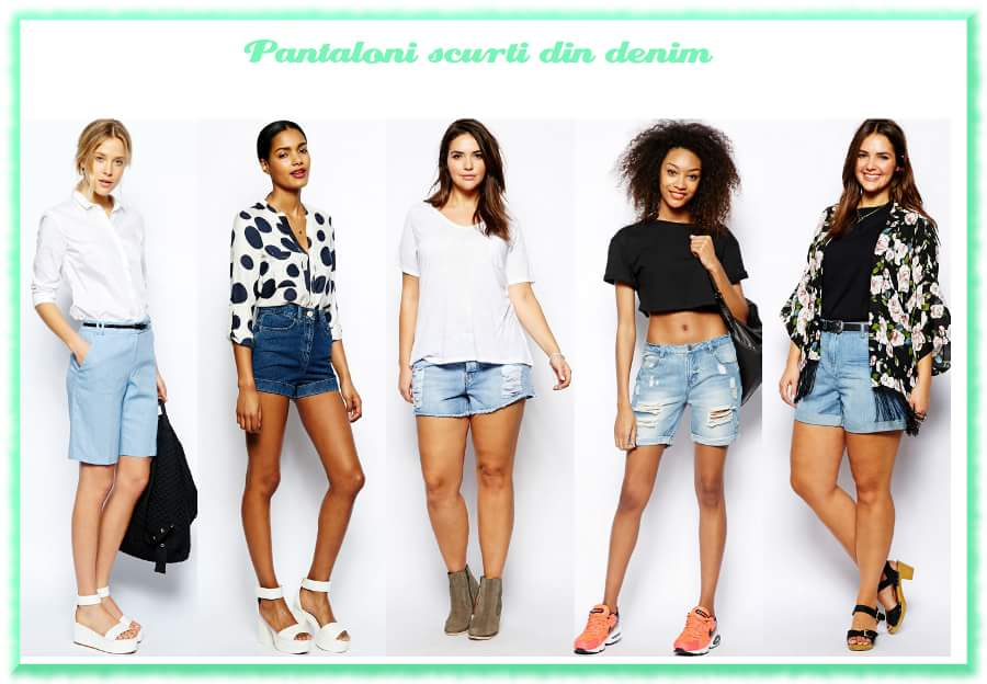 Modele de pantaloni scurti dama | Pantaloni scurti de blugi