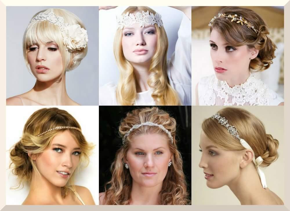 Coafuri nunta in tendinte | Coafuri nunti elegante realizate cu bentite