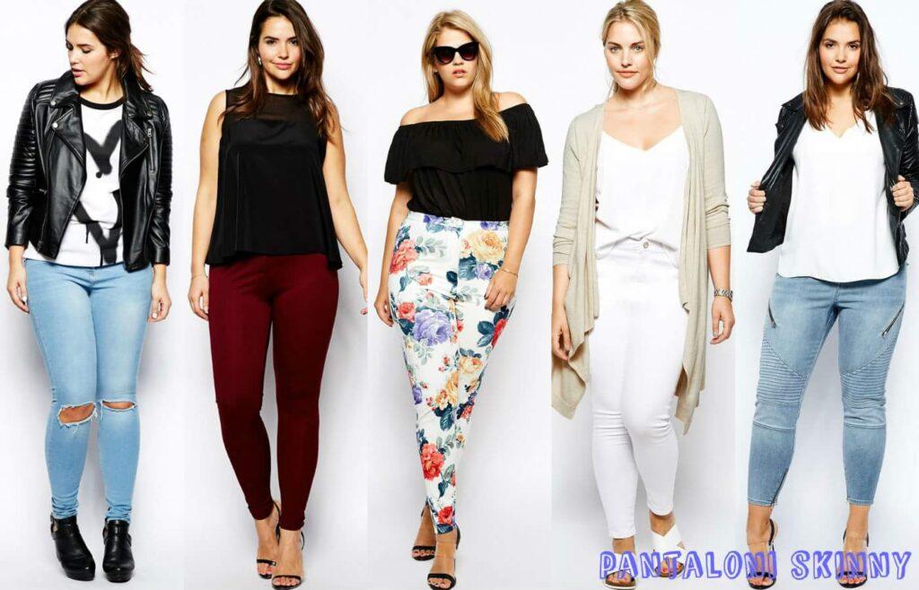 Pantaloni skinny pentru femei plinute