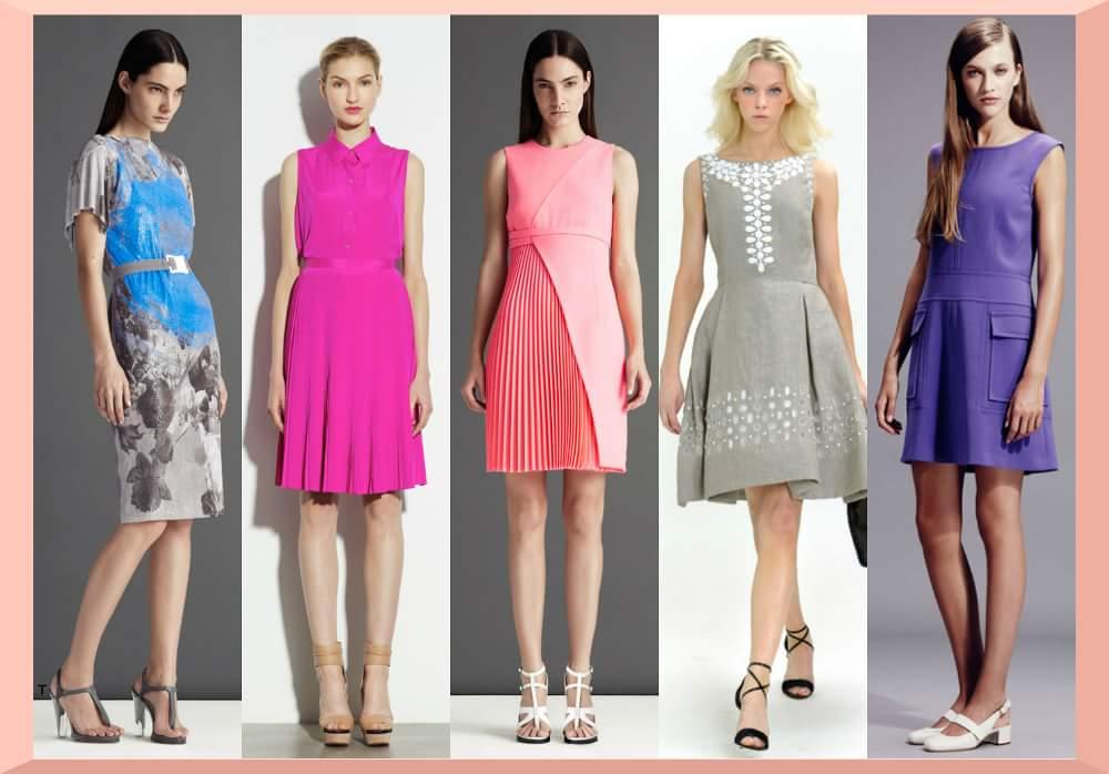 Idei tinute office: o rochie casual cu o croiala simpla