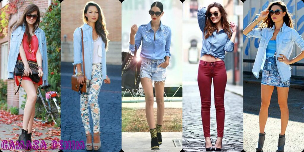 Blugi și haine din denim pe care le poți purta vara: Camasa din denim
