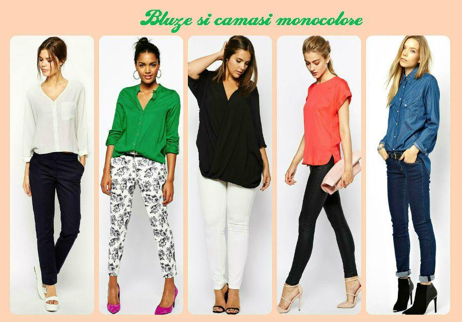 Bluze sau camasi monocolore pentru moda femeia la 40 ani