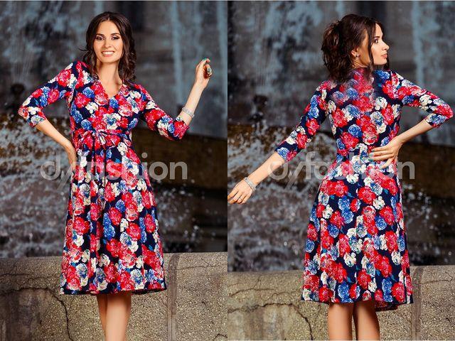 Rochie casual cu imprimeuri florale