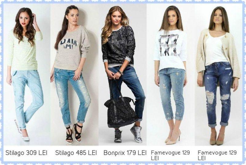 Jeansi damasi pulovere