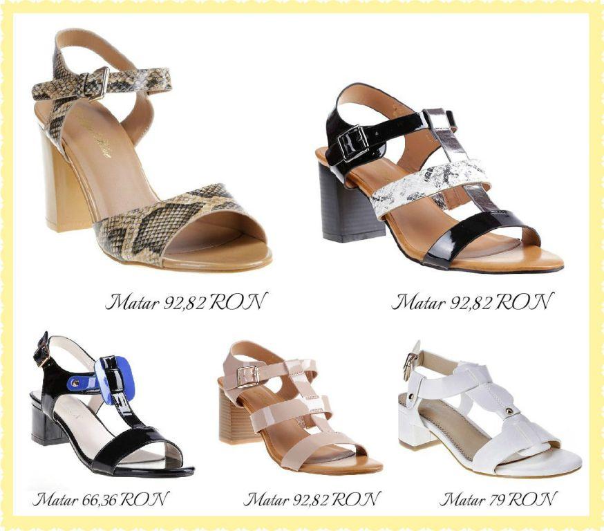 Sandale cu tocul gros