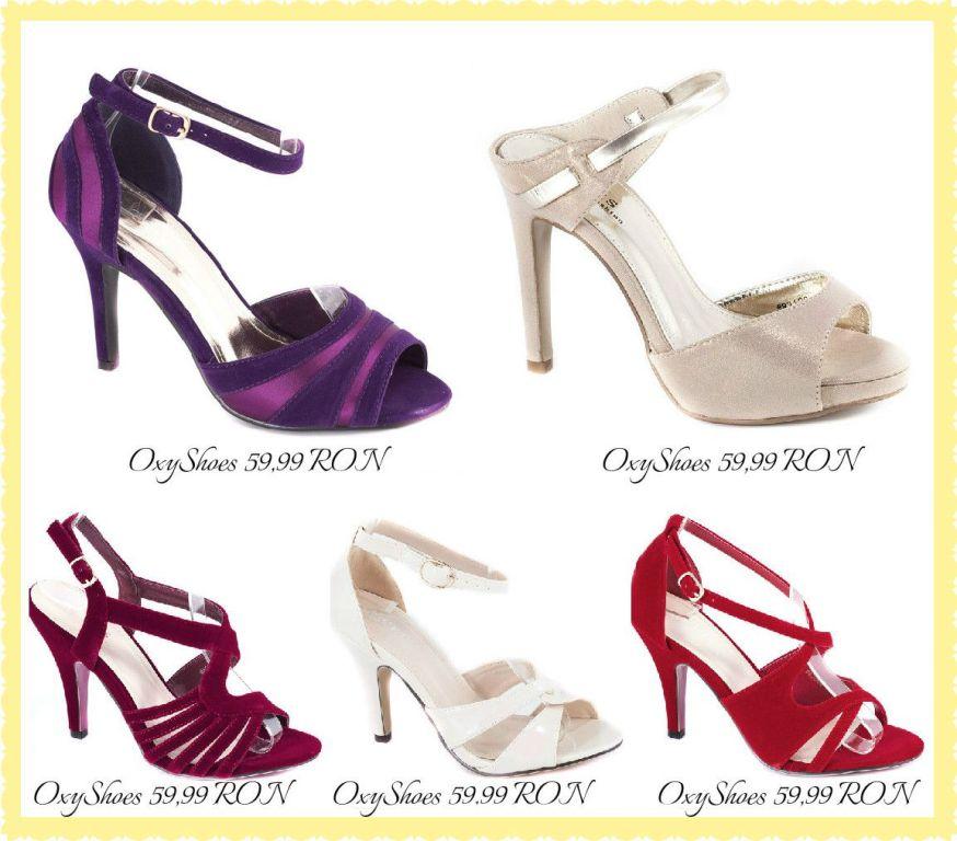 Modele de sandale deschise in fata