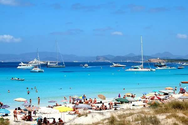 Plaja Illetes, Formentara, Spania