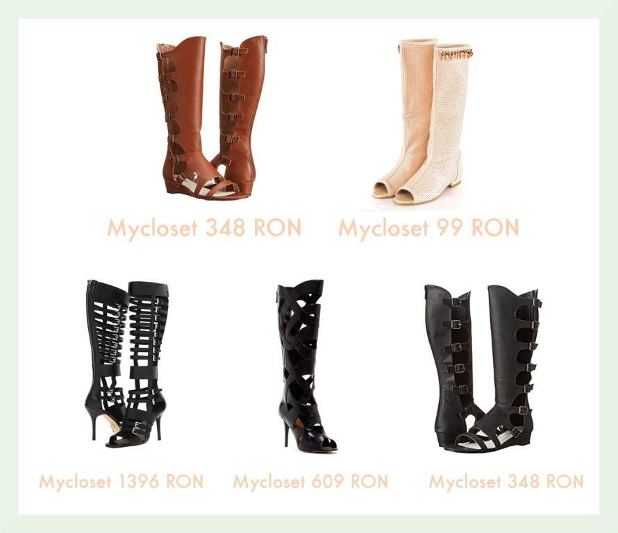 Modele de cizme de vara cu decupaje