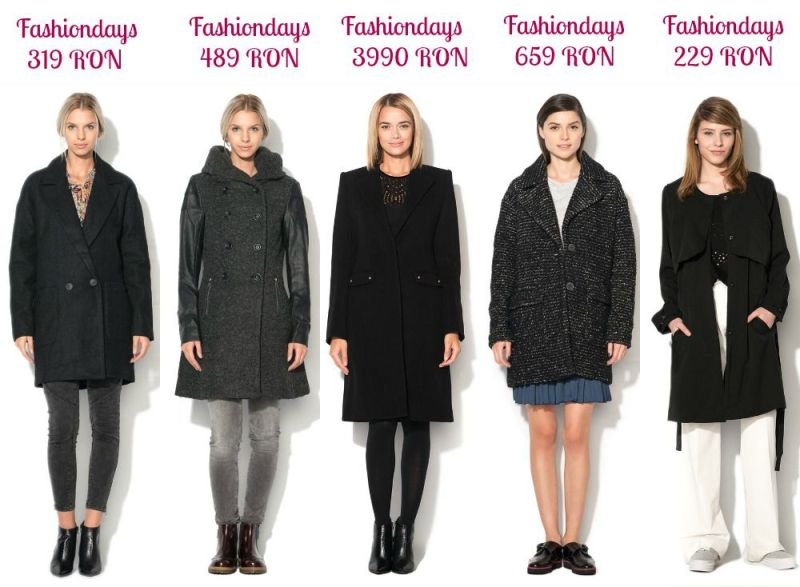 Paltoane negre damă