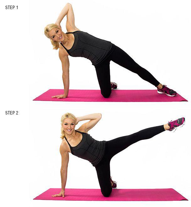 Crunch lateral pentru exercitii abdomen superior