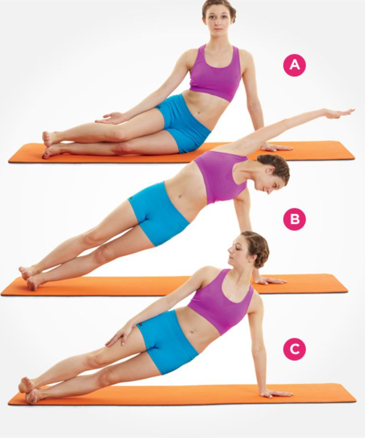 Exercitii pilates pe baza de flotari laterale