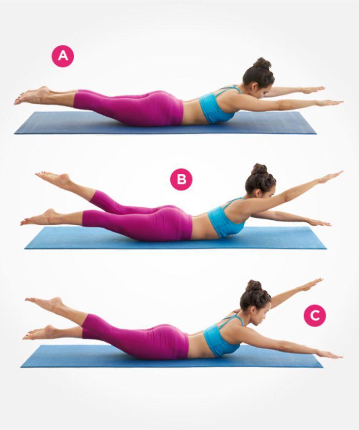 Pozitia de inot pentru abdomen
