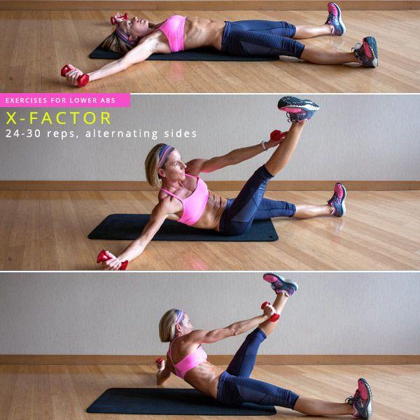 Exercitii xFactor pentru abdomen inferior