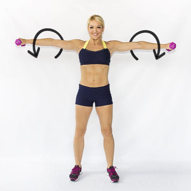 Exercitii pentru brate | Exercitii gantere | Aripi de liliac