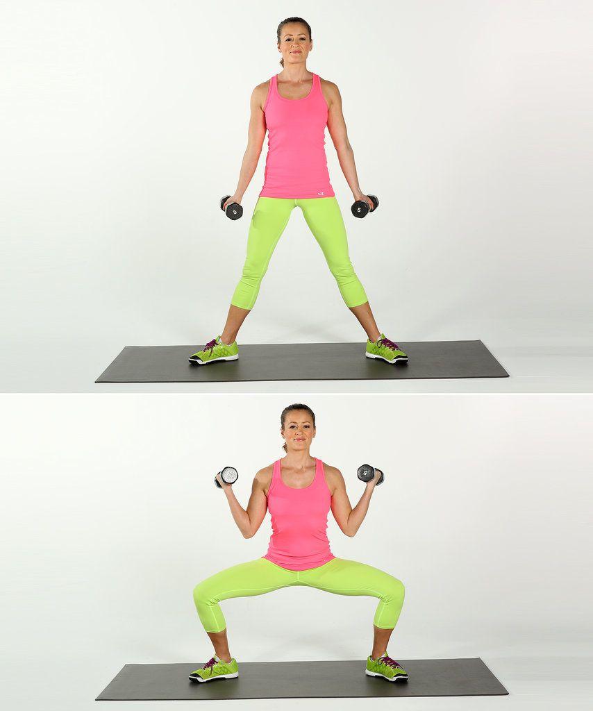 Exercitii pentru brate | Pilates pentru brate | Sumo genoflexiuni