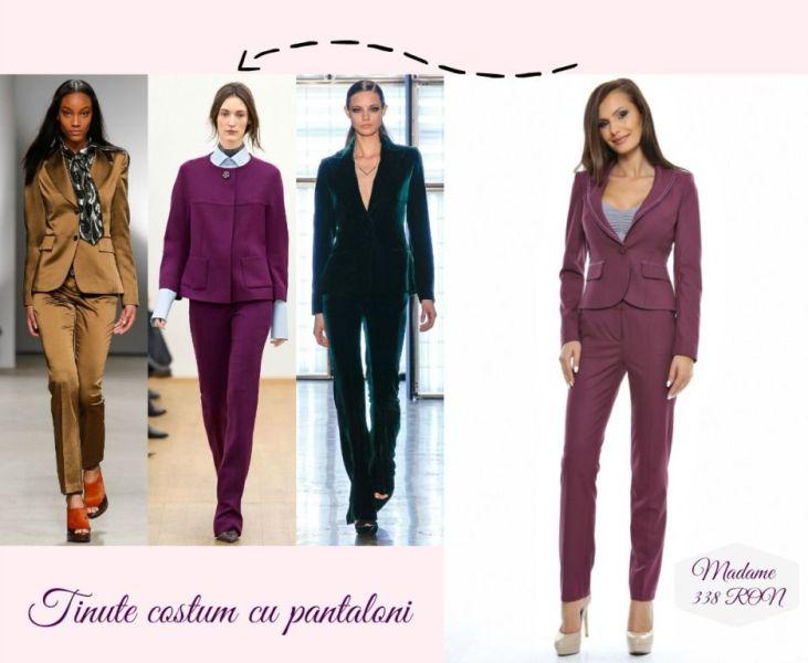 Idei tinute de Craciun pentru dame cu costum cu pantaloni