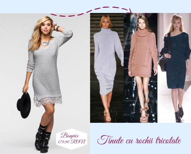 Idei tinute de Craciun pentru dame: tinute cu rochii tricotate