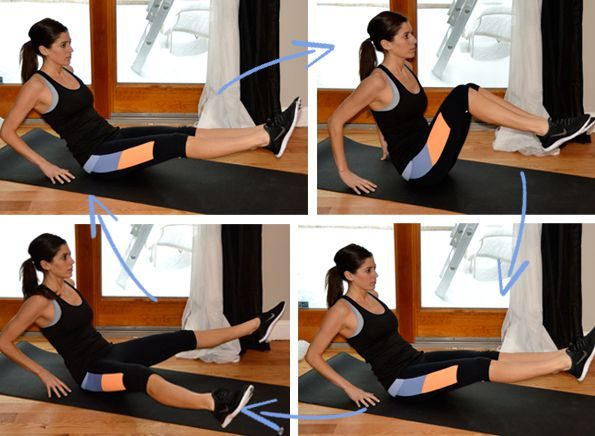 Exercitii pentru slabit burta si solduri, full body crunch