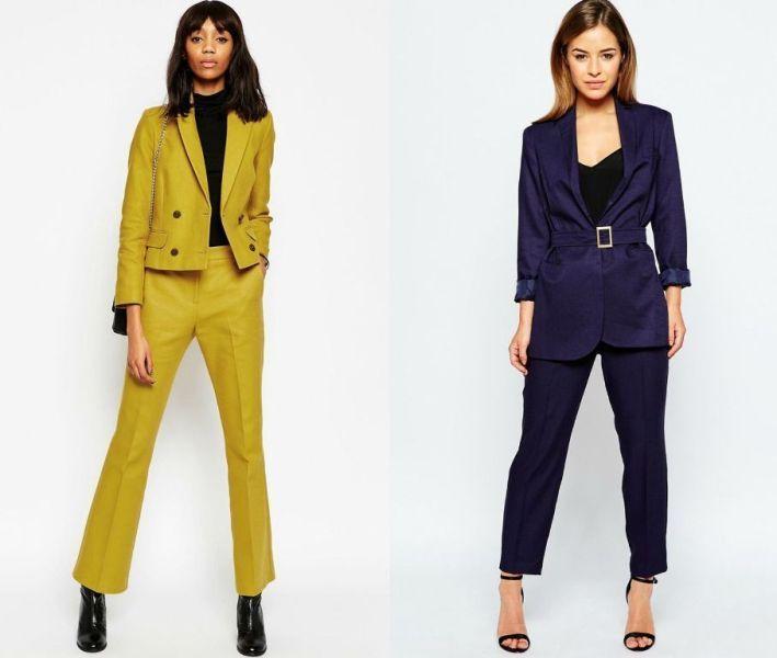 Idei tinute de primavara la moda in 2016 cu costume cu pantaloni