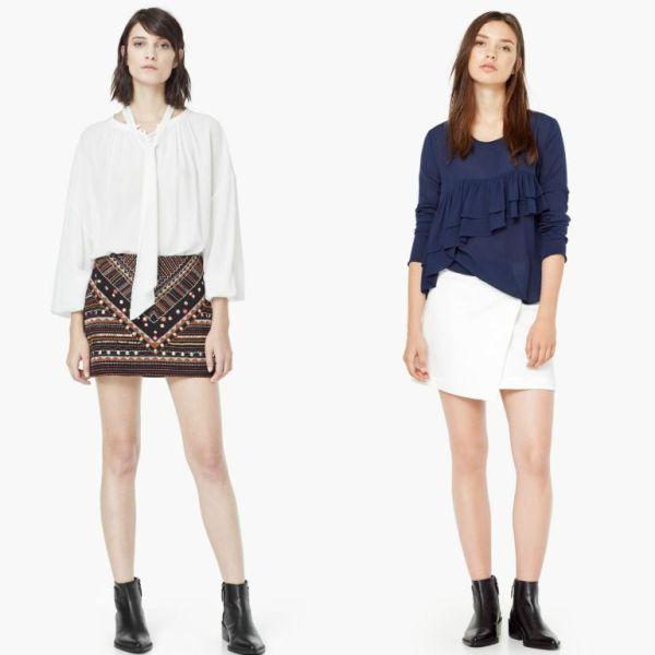 Tinute cu bluze si fuste la moda primavara vara 2016