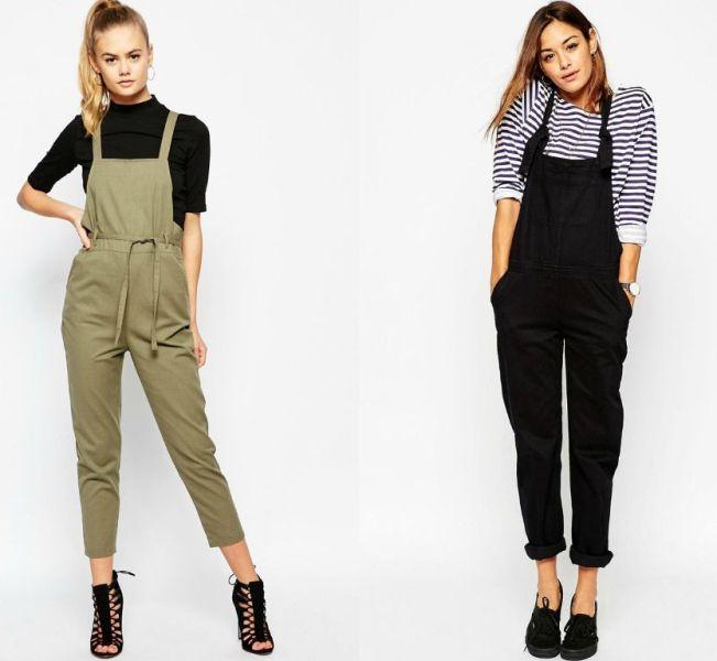 Idei tinute de primavara la moda in 2016 cu salopeta