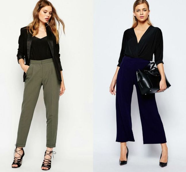 Tinute cu pantaloni eleganti la moda primavara vara 2016