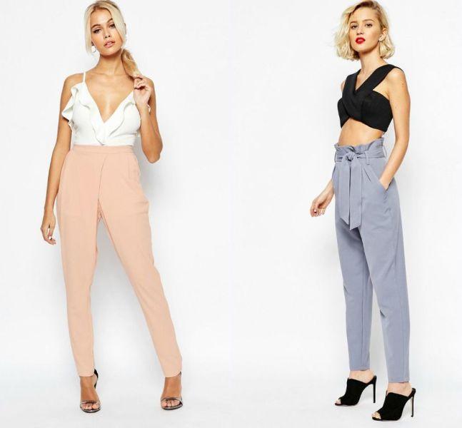 Tinute cu pantaloni eleganti si colorati la moda in primavara vara 2016