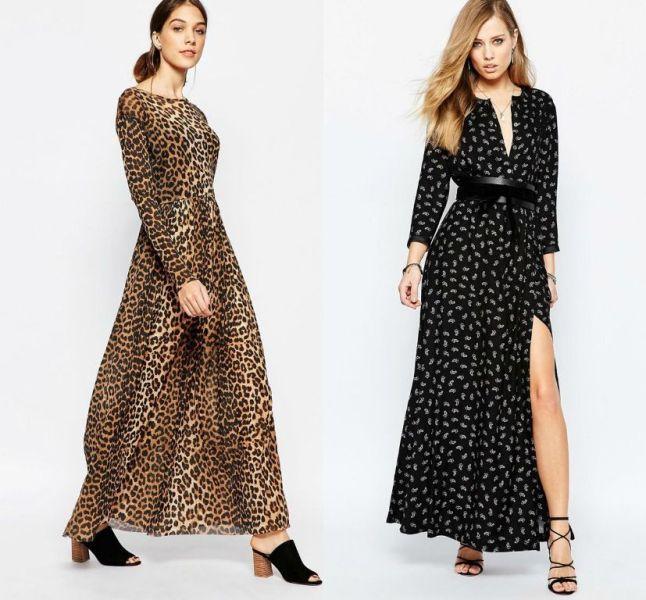 Idei tinute de primavara la moda cu rochii de zi lungi