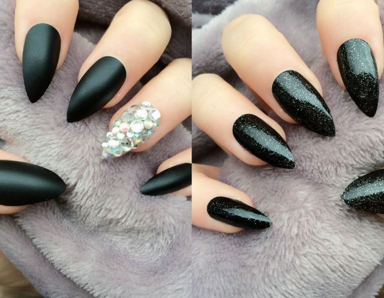 Modele unghii ascutite negre