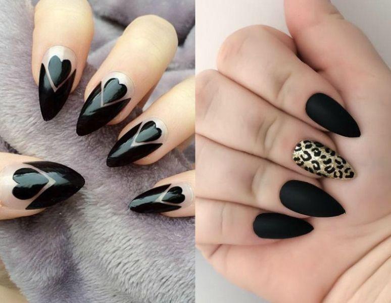 Modele unghii ascutite negre 2018