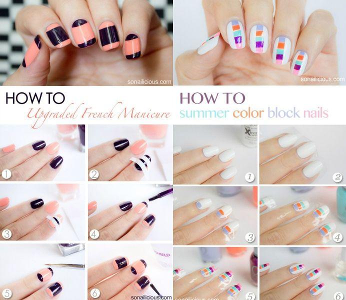 Modele unghii naturale pas cu pas