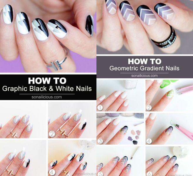 Modele unghii naturale realizate pas cu pas