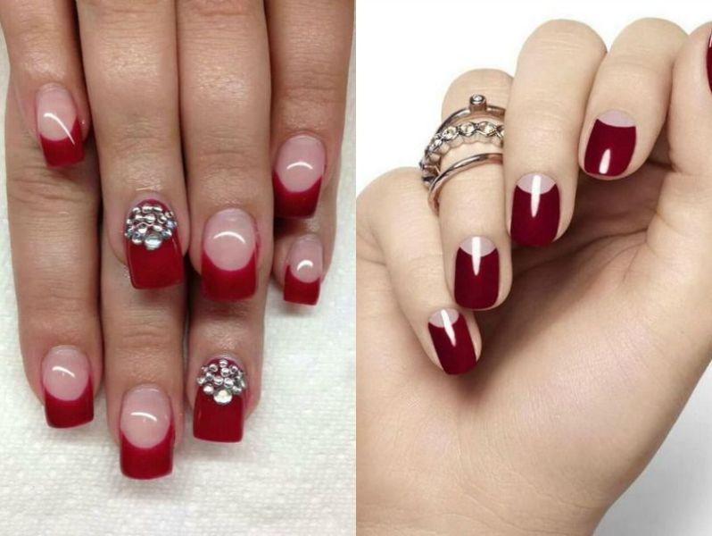 Modele unghii rosii cu gel