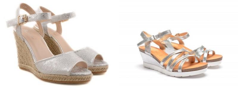 Sandale argintii la moda