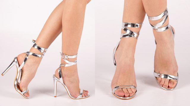 Modele de sandale argintii