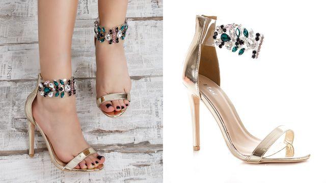 Sandale elegante cu pietre