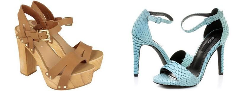 Sandale cu toc pentru vara