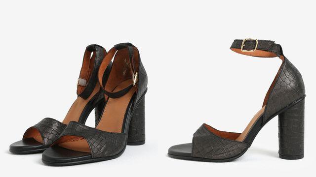 Sandale piele cu toc