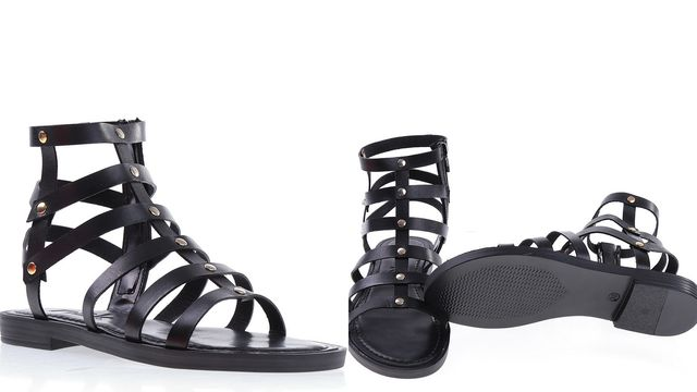 Sandale din piele fara toc