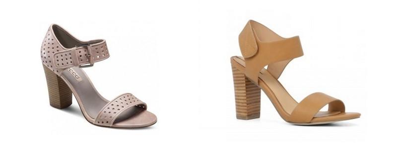 Sandale dama cu toc confectionate din piele