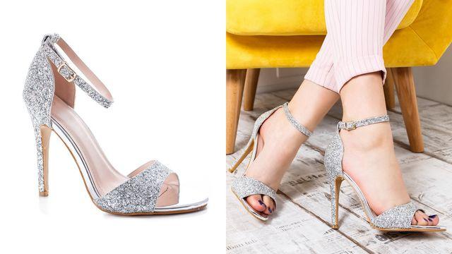 Modele de sandale elegante de seara cu sclipici