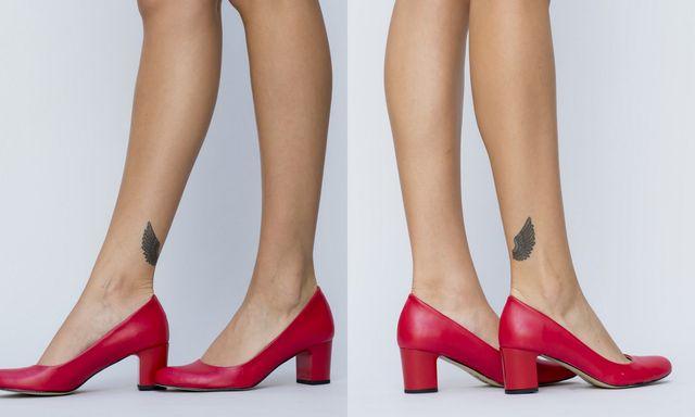 Pantofi rosii cu toc pentru toamna