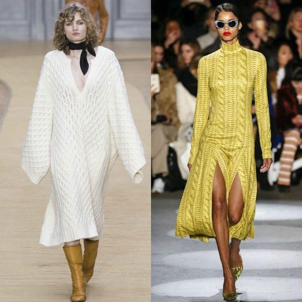 Tinute de toamna cu rochii tricotate