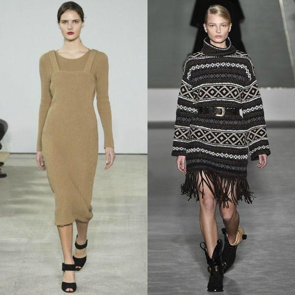 Rochiile tricotate lungi fac parte din tendintele sezonului toamna iarna