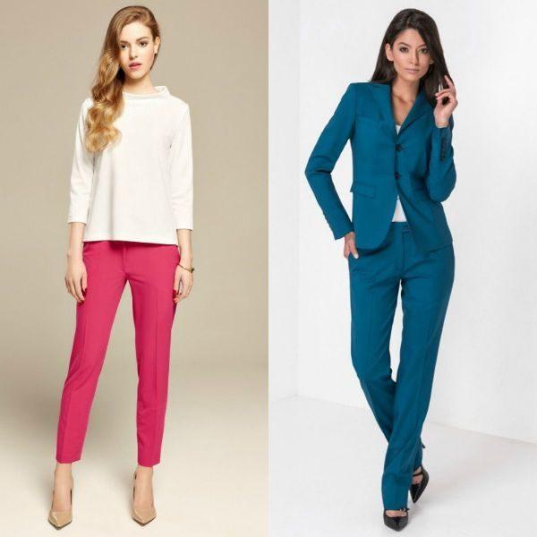 Pantaloni colorati dama la moda in 2017-2018