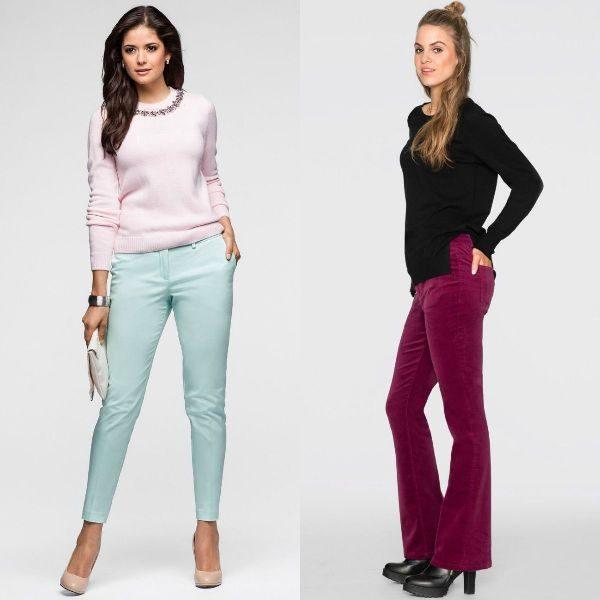 Pantaloni dama colorati pentru toamna iarna 2017