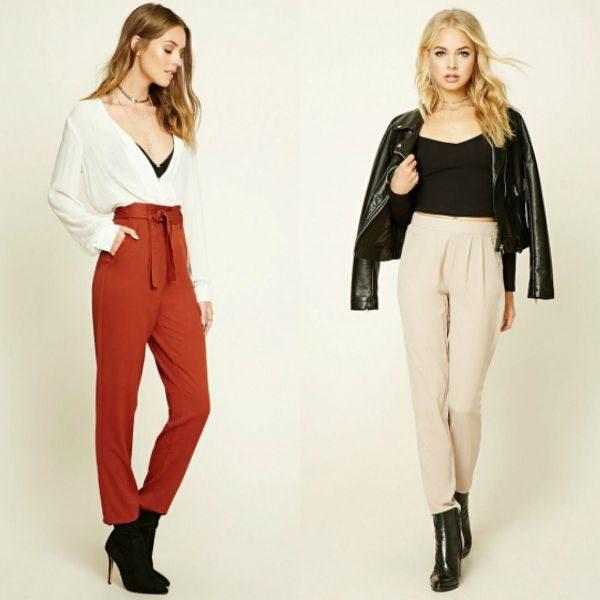 Pantaloni eleganti conici pentru femei